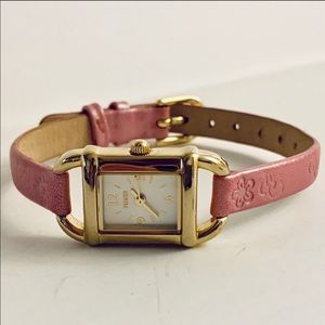 Pink Vintage Leather Timex Women's Watch